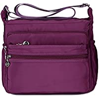Crossbody Bag for Women Waterproof Shoulder Bag Messenger Bag Casual Canvas Purse Handbag