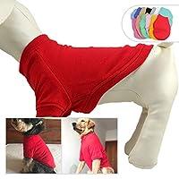 lovelonglong 2019犬用プルオーバースウェットシャツ秋冬寒い犬用Tシャツ小中大サイズ犬チワワ服XS赤