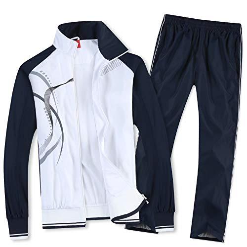 Nesseo スポーツウェア 上下 セット ジャージ パーカー パンツ メンズ スポーツ 通気 速乾 日本サイズM(タグ表示XL) 8558ホワイト