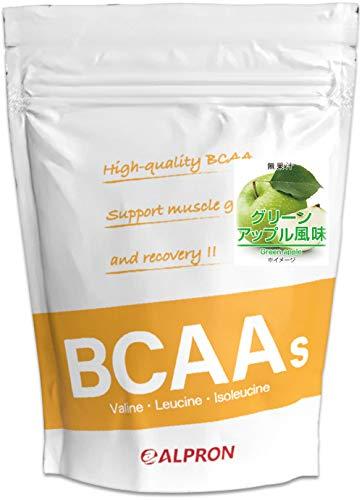 BCAA + シトルリン + グルタミン 1kg グリーンアップル風味(アミノ酸 ALPRON 粉末ドリンク 国内生産)