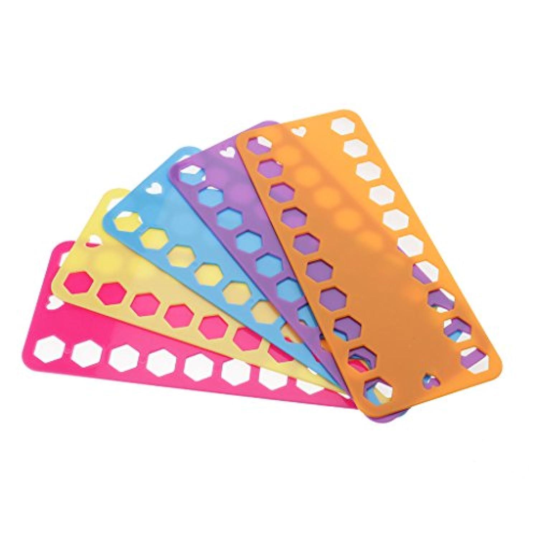Perfk プラスチック製 糸巻き 刺繍 糸 収納 巻き取り 糸ホルダー 糸巻き板 ボード プレート マルチカラー 5枚入り