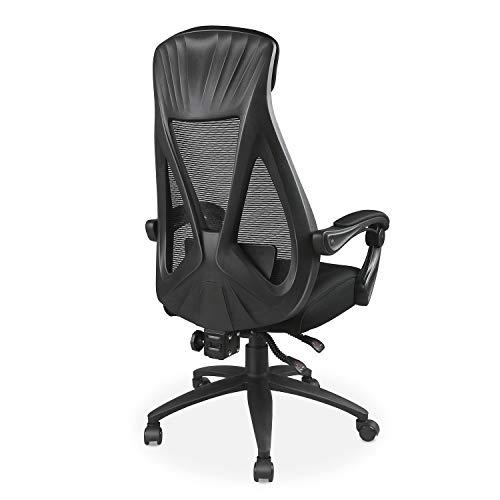 DEVAISE オフィスチェア 約160度リクライニング PP0068B B07Q577X98 1枚目