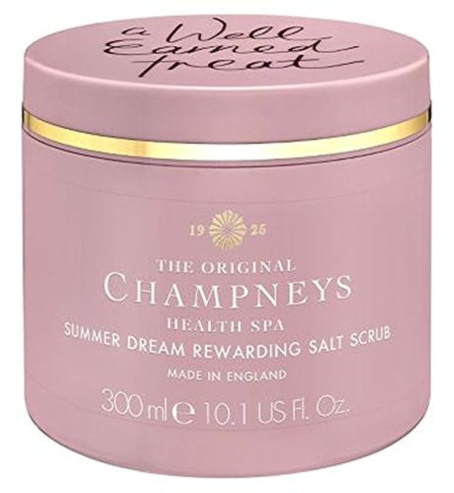湖酸っぱい合併チャンプニーズの夏の夢やりがいの塩スクラブ300ミリリットル (Champneys) (x2) - Champneys Summer Dream Rewarding Salt Scrub 300ml (Pack of 2) [並行輸入品]
