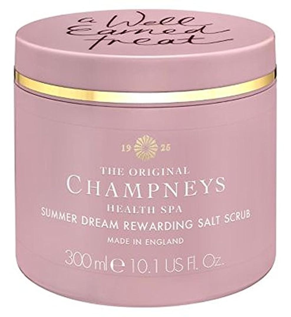 チャート反論吐き出すチャンプニーズの夏の夢やりがいの塩スクラブ300ミリリットル (Champneys) (x2) - Champneys Summer Dream Rewarding Salt Scrub 300ml (Pack of 2...
