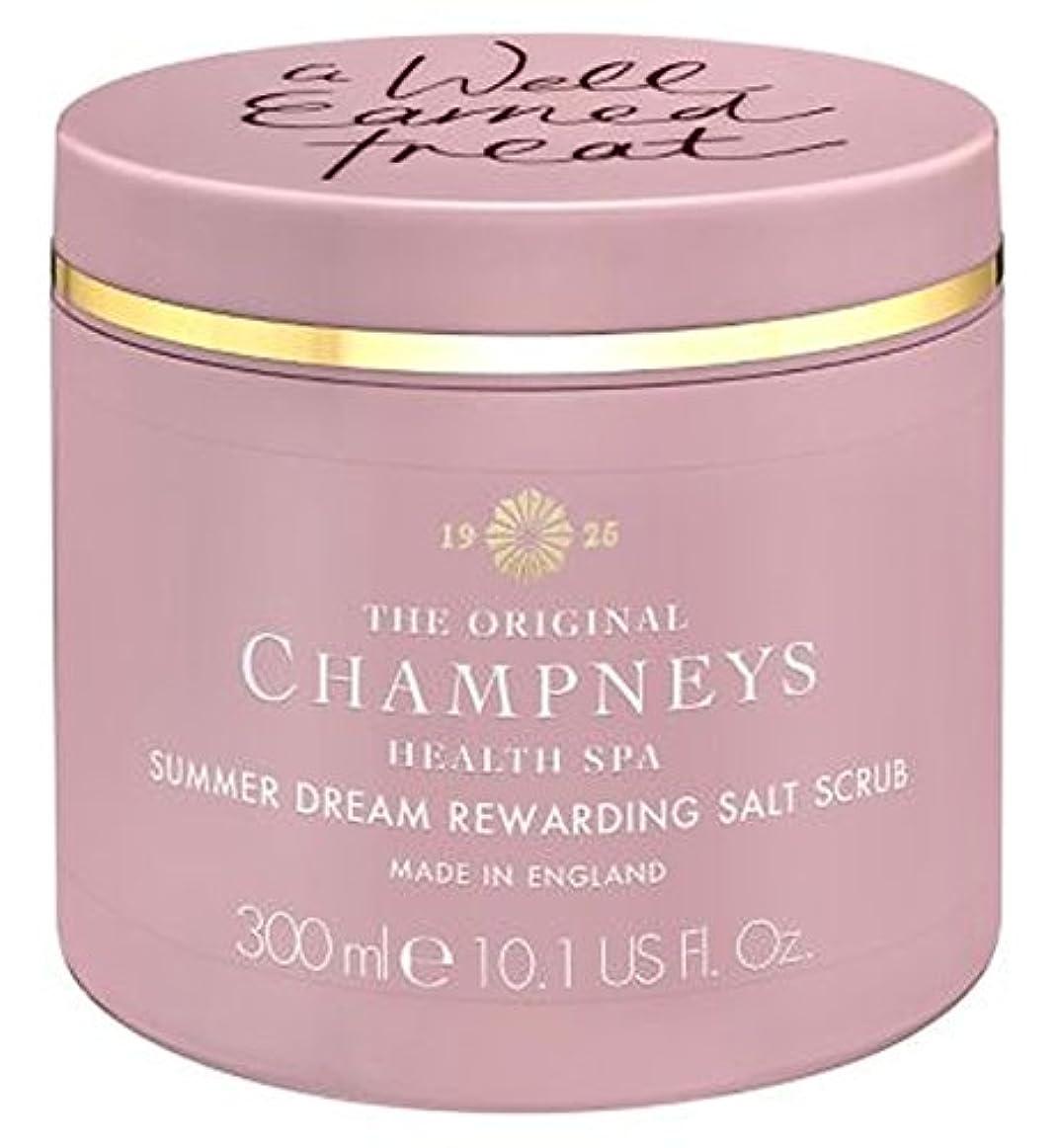 取得する再撮り命令チャンプニーズの夏の夢やりがいの塩スクラブ300ミリリットル (Champneys) (x2) - Champneys Summer Dream Rewarding Salt Scrub 300ml (Pack of 2...