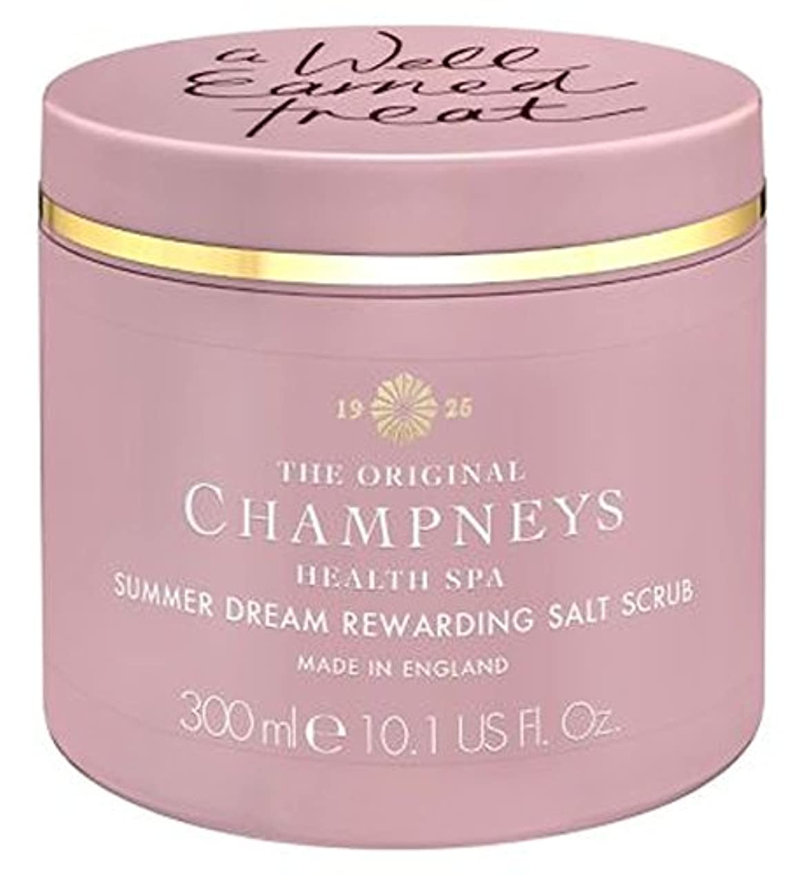 スラックダーツマーベルチャンプニーズの夏の夢やりがいの塩スクラブ300ミリリットル (Champneys) (x2) - Champneys Summer Dream Rewarding Salt Scrub 300ml (Pack of 2...