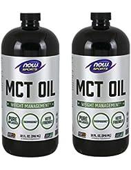[海外直送品] ナウフーズ 【2個セット】MCTオイル(中鎖脂肪酸トリグリセリド)32オンス