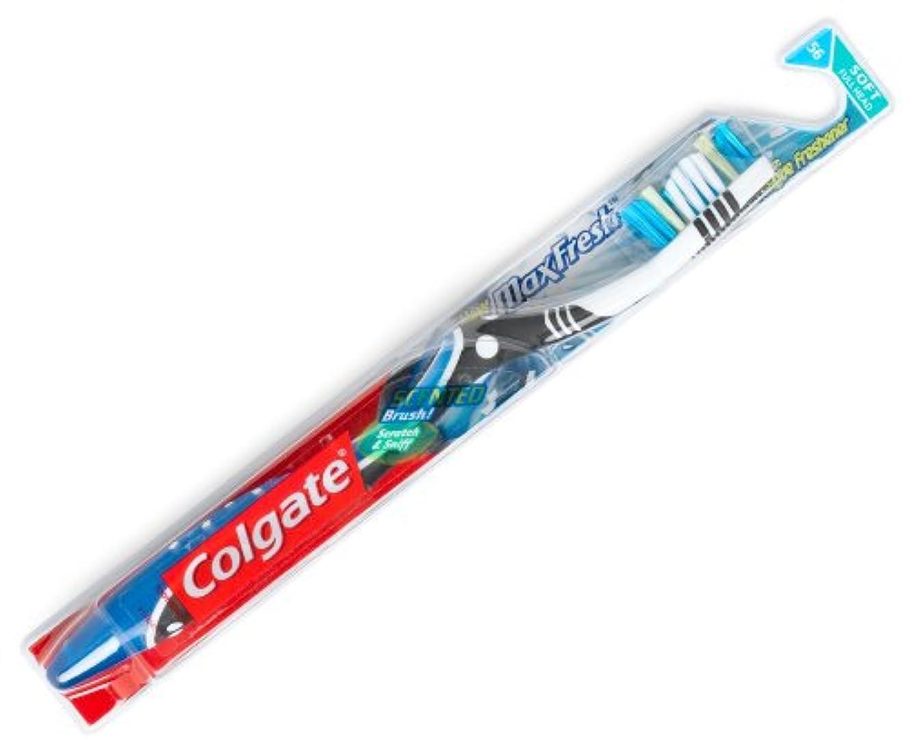 Colgate マックス新鮮な柔らかい歯ブラシ2PK、1カラット