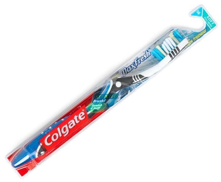 同時君主制突き出すColgate マックス新鮮な柔らかい歯ブラシ2PK、1カラット