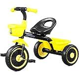 子供の三輪車 屋内運動ペダル自転車 おもちゃの自転車3から10歳までの子供のスクーターに適して (Color : Yellow, Size : 45*46*58cm)