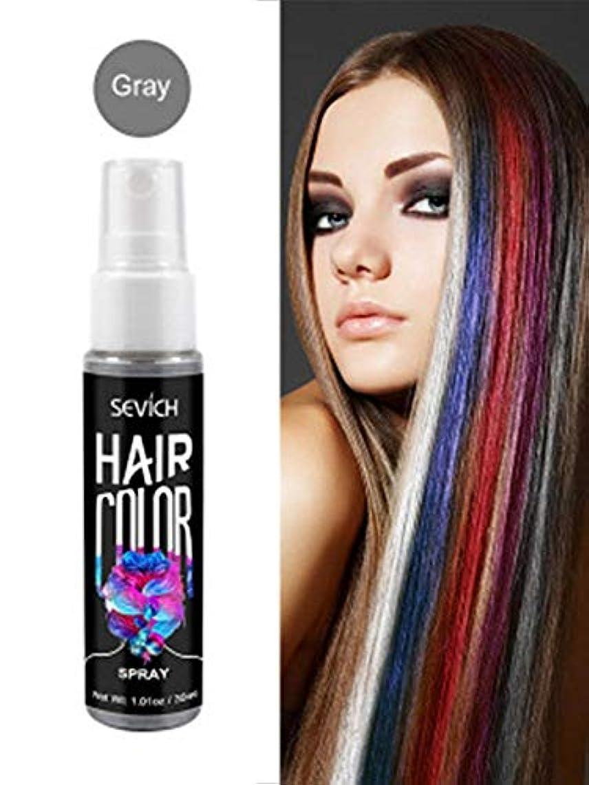 然としたベスビオ山つかまえるLUHUN 30ml 6明るい色の一時的な染料の髪の色の一時的なモデリング使い捨てDIYの髪の色スプレーユニバーサル大人子供キッズハロウィンコスプレパーティー