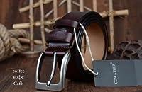 ピンバックルヴィンテージジーンズ革ベルト_110cm_XF002black