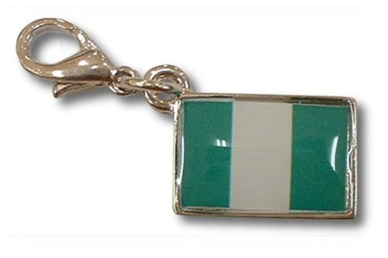 NATIONALFLAG 国旗柄ファスナーホルダー ナイジェリア連邦共和国 07137-6