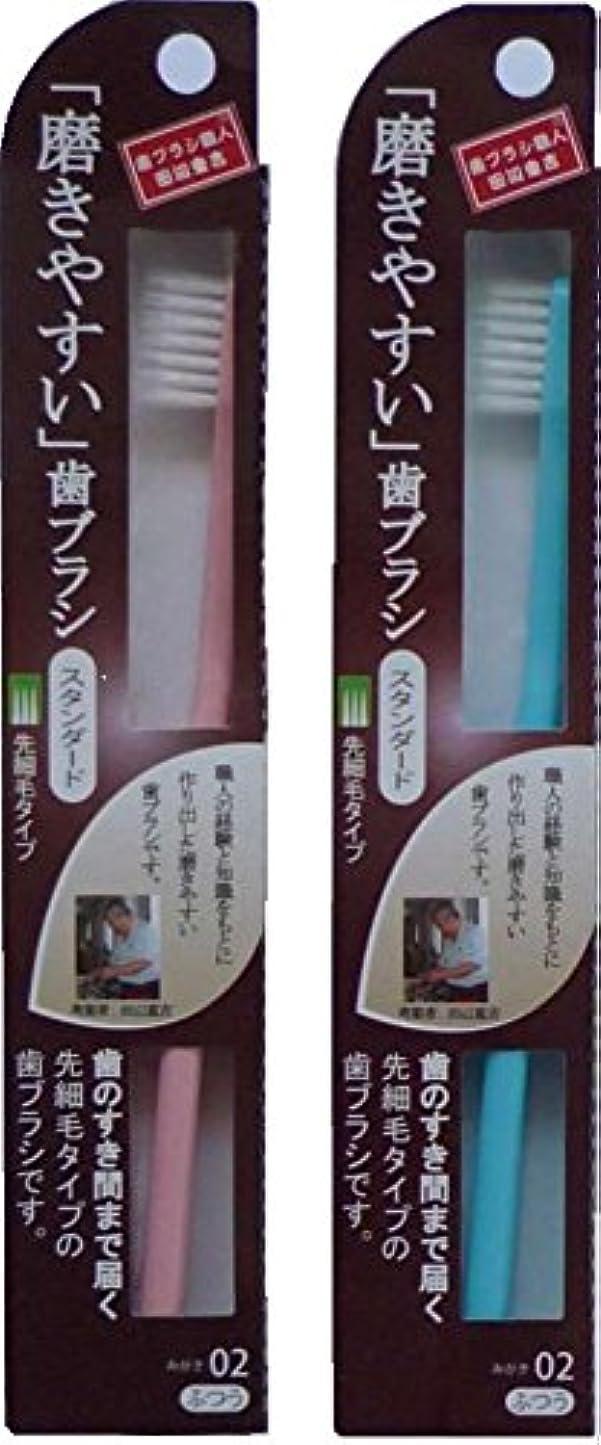 ドレイン隣接使用法磨きやすい歯ブラシ スタンダード 先細毛タイプ ふつう 12本 アソート(ピンク、ブルー、グリーン、パープル)