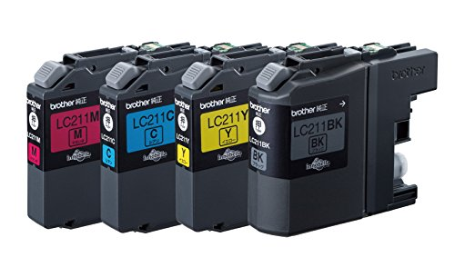 ブラザー インクジェットカートリッジ LC211-4PK 1パック 4色 LC211シリーズ