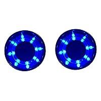 NUZAMAS 2個 DC 12ボルト 青色LEDライト ステンレス鋼 カップ ドリンク ホルダー マリン ボート トラック用 キャラバンモーターホーム