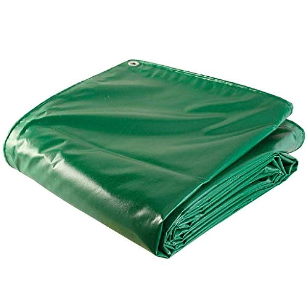 嫌がらせ個性活気づく防水防水シートキャンバス車ワゴン耐火布屋外厚い防水防水シート日焼け止め日焼け止めレインオックスフォード (Color : Green, Size : 3x8m)