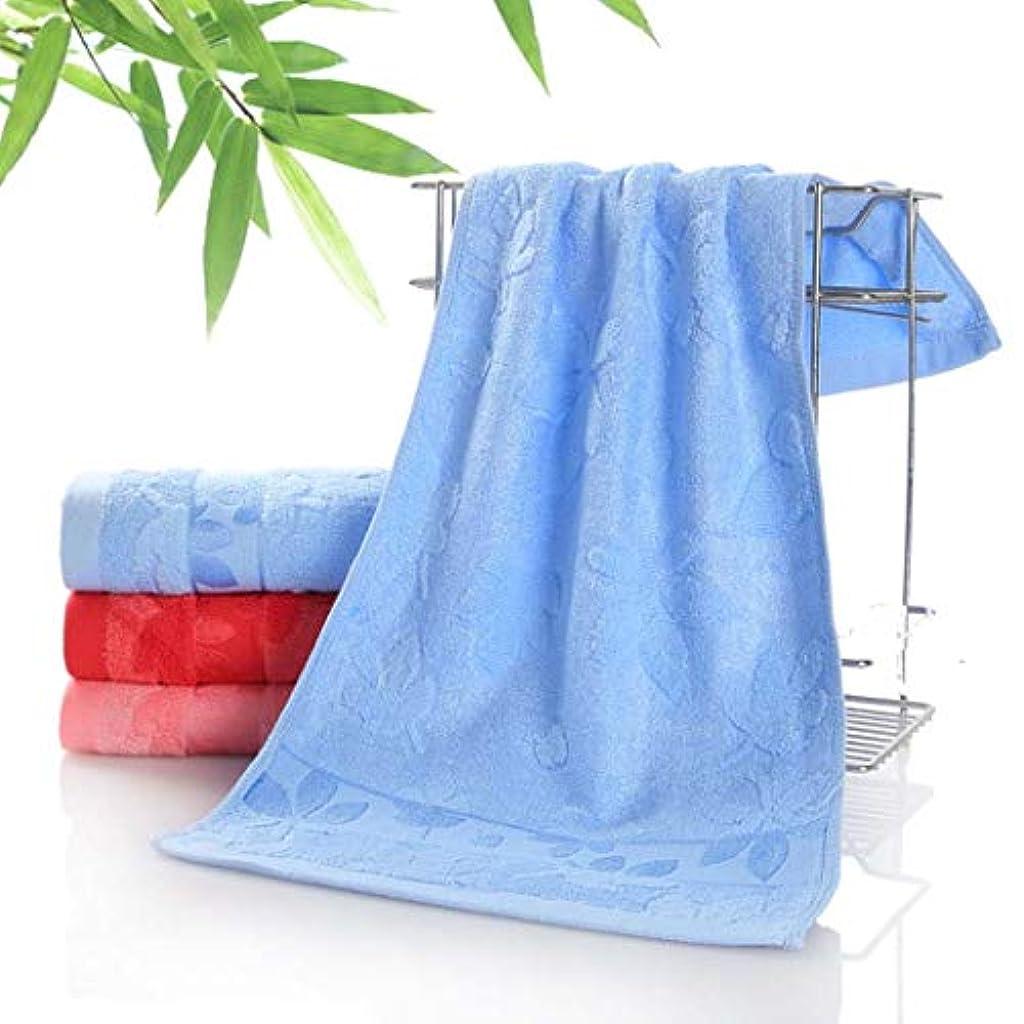 ヘクタール伝統的適応する高級バスタオルコットンタオルスーパーソフトコットンタオル,Blue,33*74cm