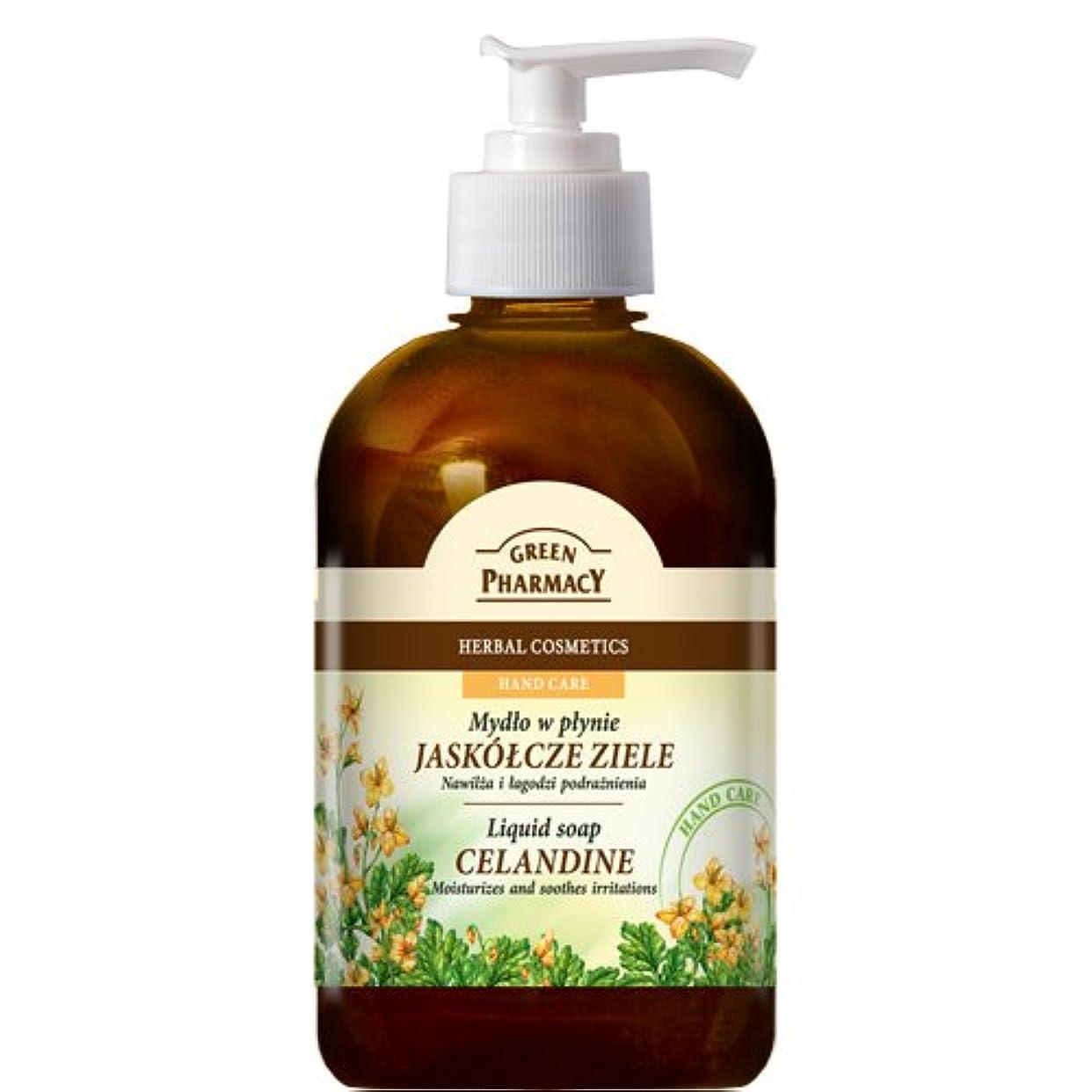 フェザーきちんとした舗装するElfa Pharm Green Pharmacy グリーンファーマシー Liquid Soap リキッドソープ Celandine クサノオウ