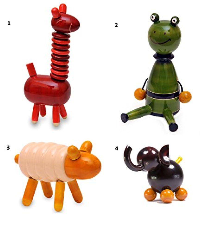 4ピース木製動物おもちゃセット:モデルsp-gl002