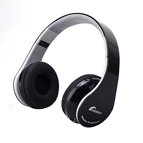 MOOBOM 密閉型Bluetoothヘッドフォン 3.5mmオーディオ 有線ヘッドセット (ブラック)