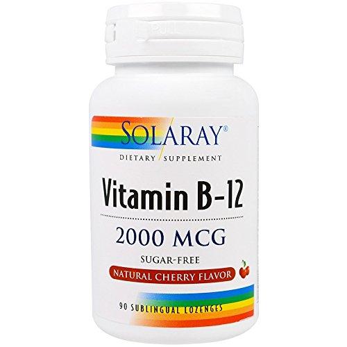 (ソラレー社 アメリカ) ビタミンB-12 チェリー風味 2000mcg ノンシュガー 90粒