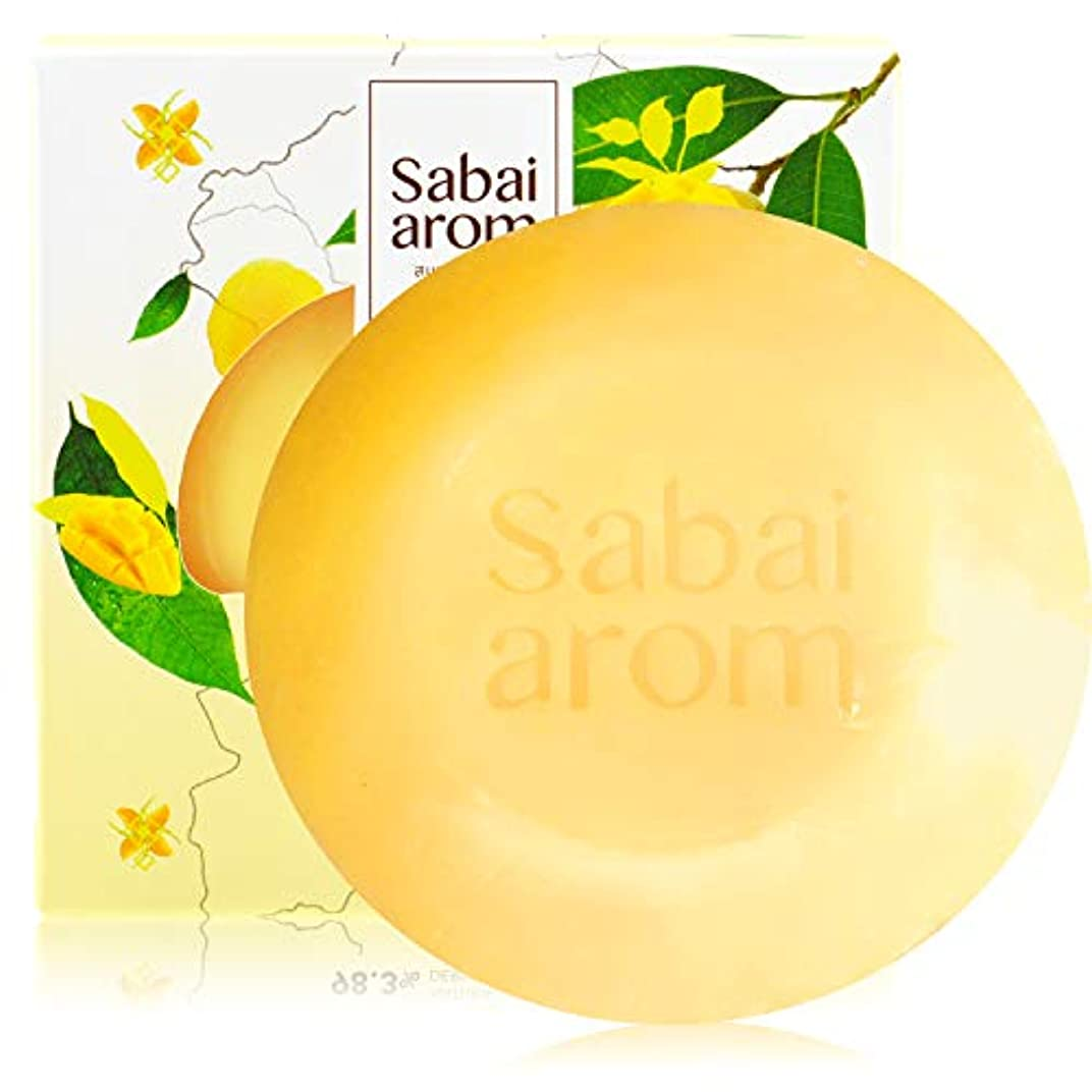 遊びます組み込む息を切らしてサバイアロム(Sabai-arom) マンゴー オーチャード フェイス&ボディソープバー (石鹸) 100g【MAN】【001】