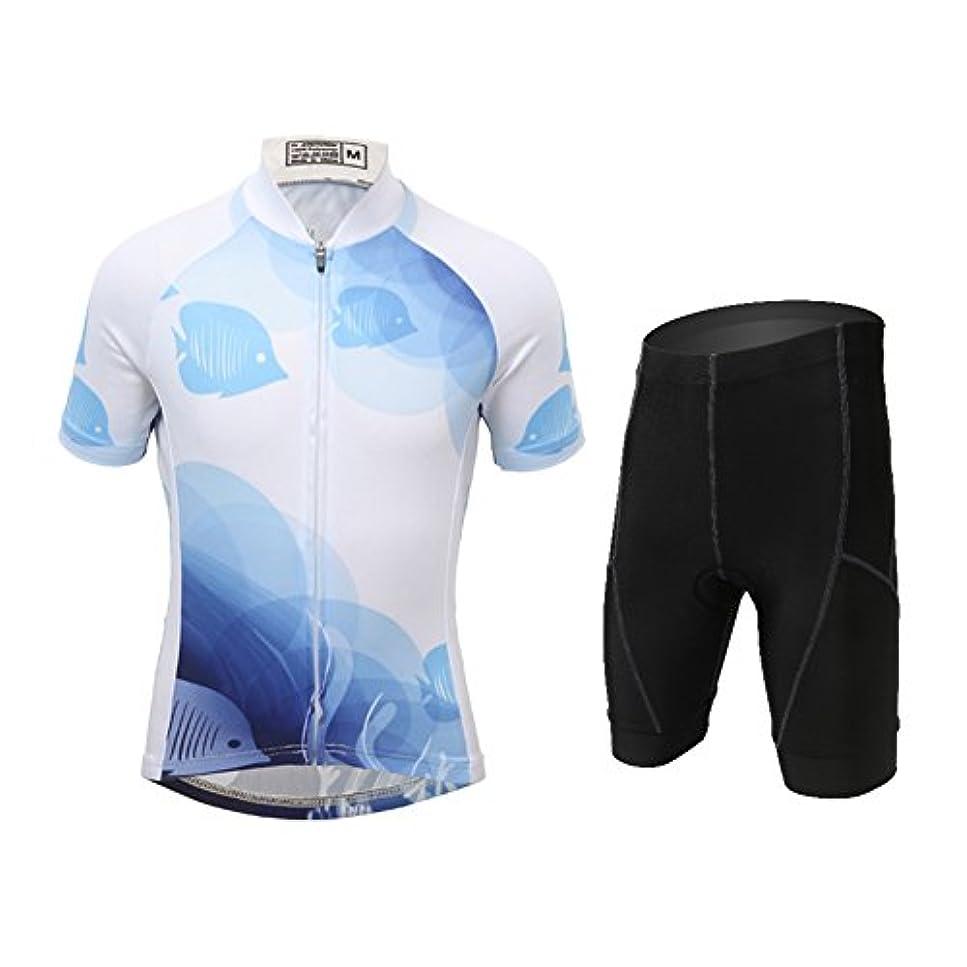 飽和する崇拝します銅S&T サイクルウエア サイクルジャージ 上下セット 子供用 夏用自転車ウエア ジュニア 短袖ジャージ サイクルリングパンツ 半袖ウエアセット キッズ対応 サイズ選択可 S/M/L/XL/XXL/XXXL