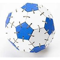 サッカーボールくみくみボール 青 立体パズル 医療技師考案、特許取得製品? ダンボール製なので地球に優しいエコ商品です。