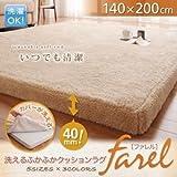 洗えるふかふかクッションラグ【farel】ファレル 140×200cm(色:ピンク) tu-23962