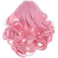 KESOTO 人形髪 ドールかつら アメリカンガール ウィッグ 長波状 18インチ DIY アクセサリー 全3色  - ピンク