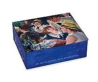 Boxed空白ノートカード–アートbyピエールオーギュスト・ルノワール–20カードで再利用可能なボックス
