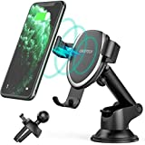 CHOETECH 7.5W Fast Wireless Car Charger Mount Compatible with Apple iPhone 12/12 Pro/12 Pro Max/SE/11/XR/XS/XS Max/X/8,10W for Galaxy S20/Note 10+/S10/S9/S8 Gravity Wireless Car Charger Phone Holder