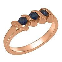 英国製(イギリス製) K14 ピンクゴールド 天然 サファイヤ レディース リング 指輪 各種 サイズ あり