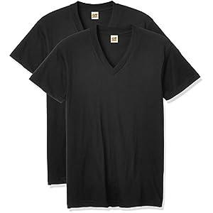 (グンゼ)GUNZE G.T.HAWKINS BASICPACKT-SHIRT 綿100% VネックTシャツ 2枚組 HK10152 97 ブラック M