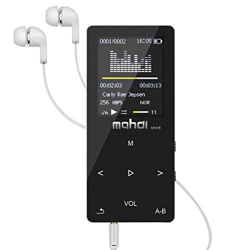 [해외]Mahdi MP3 플레이어 음악 플레이어 HiFi 초 고음질 8GB 터치 패널 sd 카드 128GB 대응 재생 속도 변경 가능 음악 재생 녹음 동영상 FM 라디오 합금 소재 블랙/Mahdi MP3 Player Music Player HiFi Ultra High Quality 8 GB Touch Panel sd Card 128 ...