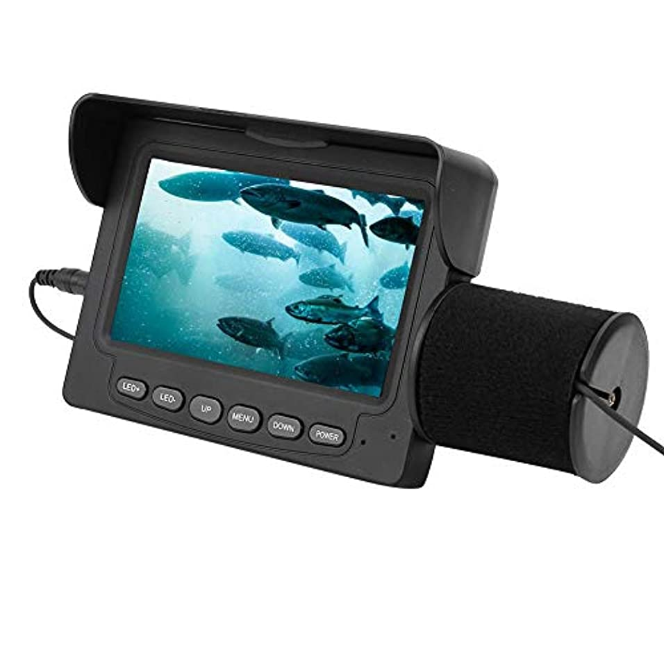 キャンペーンホームレスサスペンションSoarUp 4.3インチTFTカラーモニター 魚群探知機 水中カラーモニター 釣りカメラ HD 1000 TV 延長ケーブル15メートル 視野角:165度 IP68防水