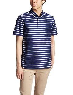 Short Sleeve Pullover Buttowndown Shirt 38-01-0006-139: Navy