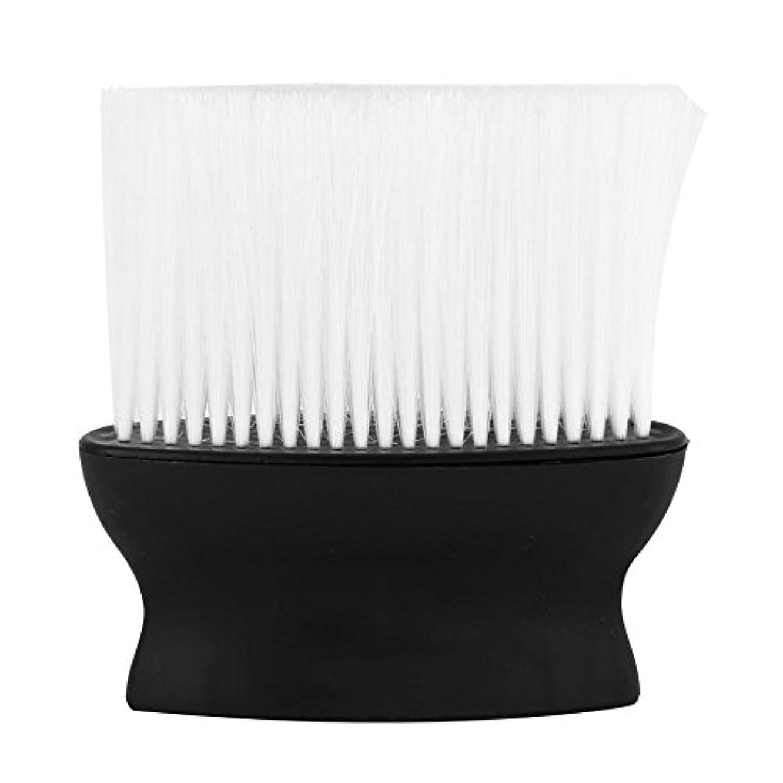 日常的に雄弁経度ヘアクリーニングブラシ1ピースプロワイドネックダスタークリーンブラシ理髪師ヘアカット理髪スタイリストサロン