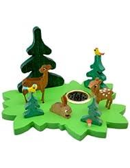 インセンススタンド 森の動物 グリーン