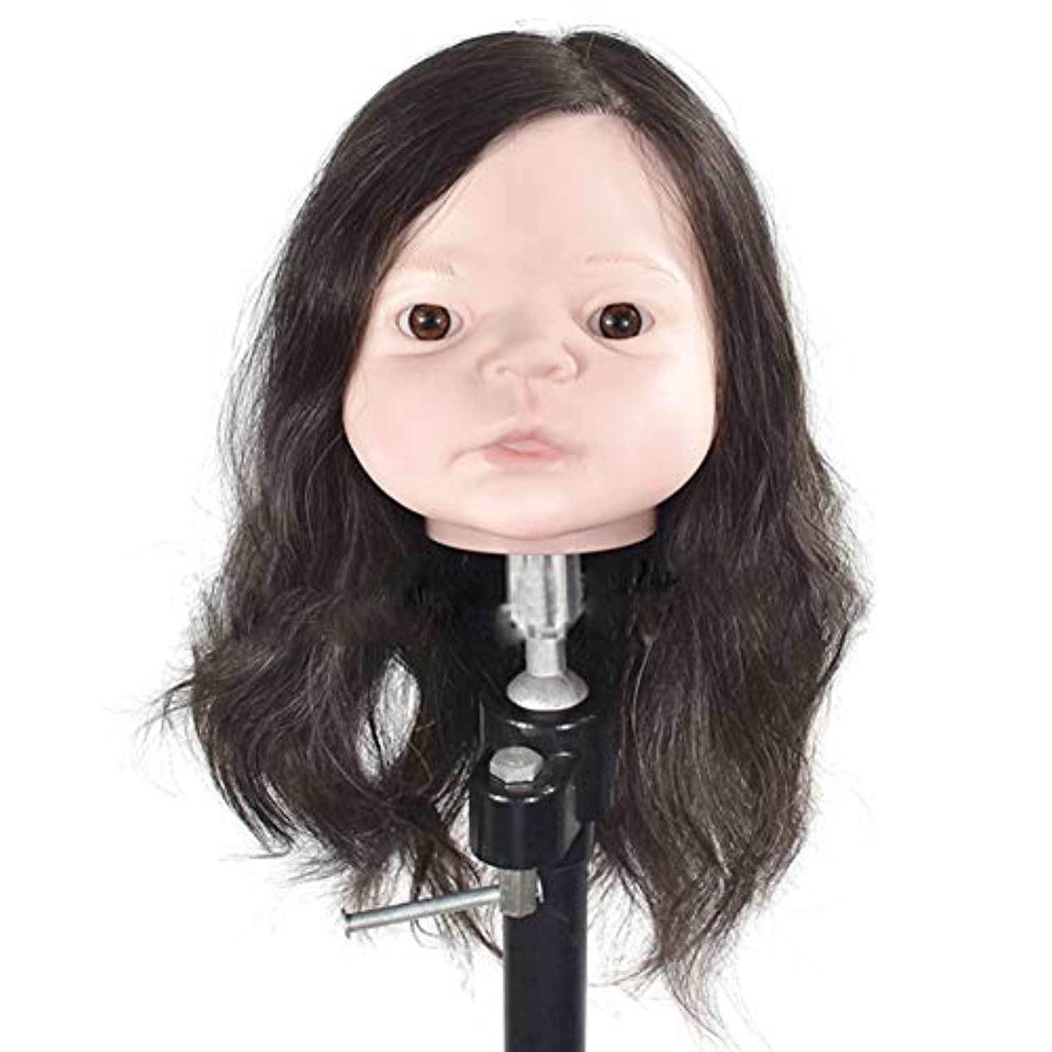 免除フィラデルフィア普遍的な専門の練習ホット染色漂白鋏モデリングマニアックヘッド編み髪のかつら模型人形ティーチングヘッド