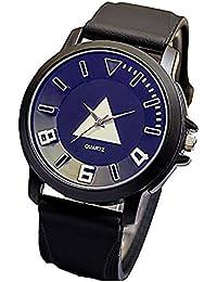 53dd25fc4f ZooooM ユニーク 幾何学 デザイン 文字盤 アナログ ウォッチ 腕 時計 ファッション アクセサリー おもしろ カジュアル メンズ レディース  男性 女性 男 女 兼 用…