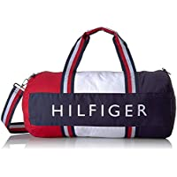 Tommy Hilfiger Patriot Duffel Bag with Wide Navy, Red and White Stripe Handles