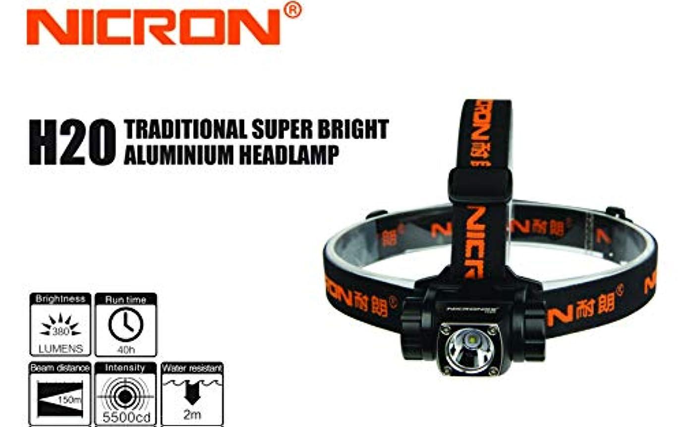 不信プライム予算ニクロン(Nicron) 着脱式ヘッドライト 340ルーメン(単4乾電池×3本) H20