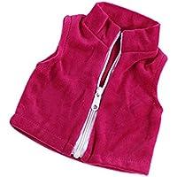 SONONIA 18インチアメリカガールドール人形用 衣装 ジッパー付き ウエストコート 服 アクセサリー ドレスアップ