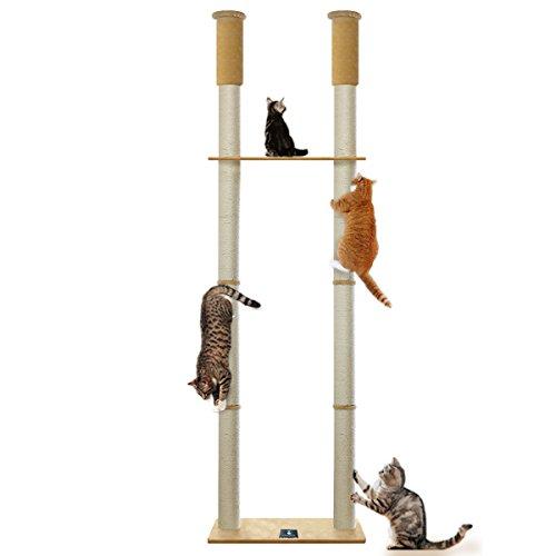 ottostyle.jp 猫爪とぎ 木登りキャットポール ツイン 突っ張り(つっぱり)式 高さ240~255cm 拡張可能 運動...