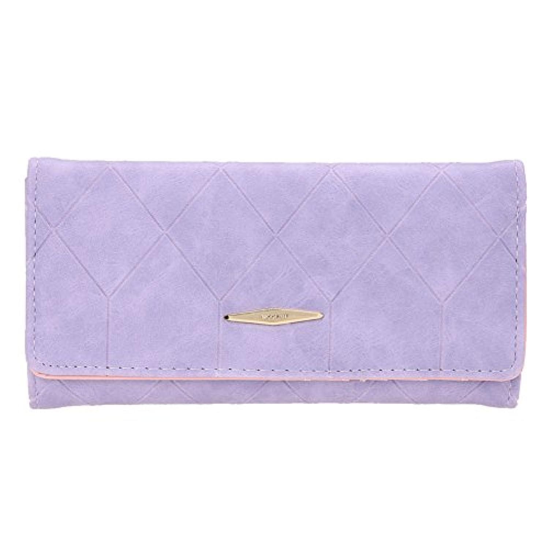 bestjpshop PU 無地 チェック柄 財布 レザー 小さい レディース 財布 ウォレット カード小銭入れ プレゼント