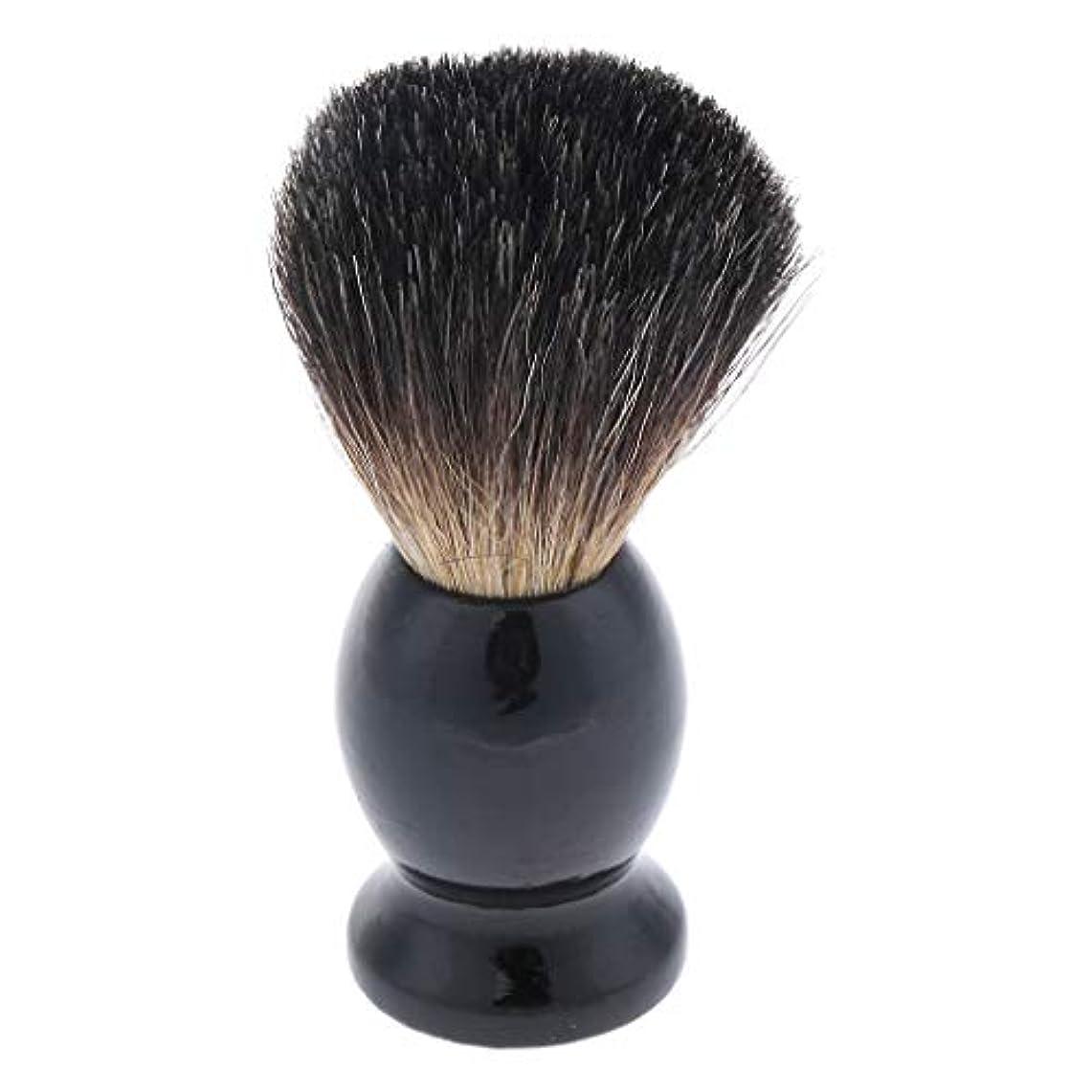 スラッシュベーシックガラスメンズ ひげブラシ シェービングブラシ ひげ剃りブラシ 木製ハンドル 父 贈り物