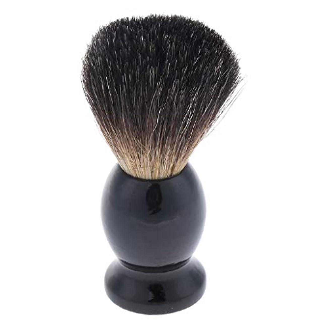 手のひら続編潤滑するHellery メンズ ひげブラシ シェービングブラシ ひげ剃りブラシ 木製ハンドル 父 贈り物