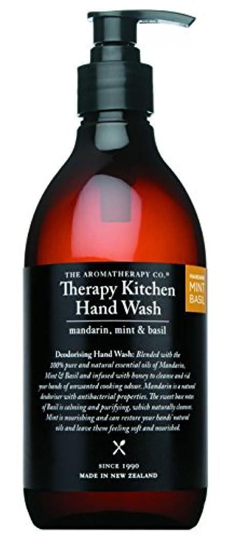 敬な交換可能温度Therapy Kitchen セラピーキッチン Dish & Hand Wash マンダリン?ミント&バジル